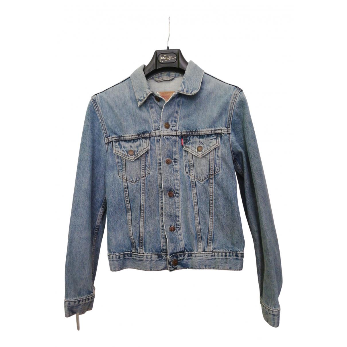 Levis \N Lederjacke in  Blau Denim - Jeans