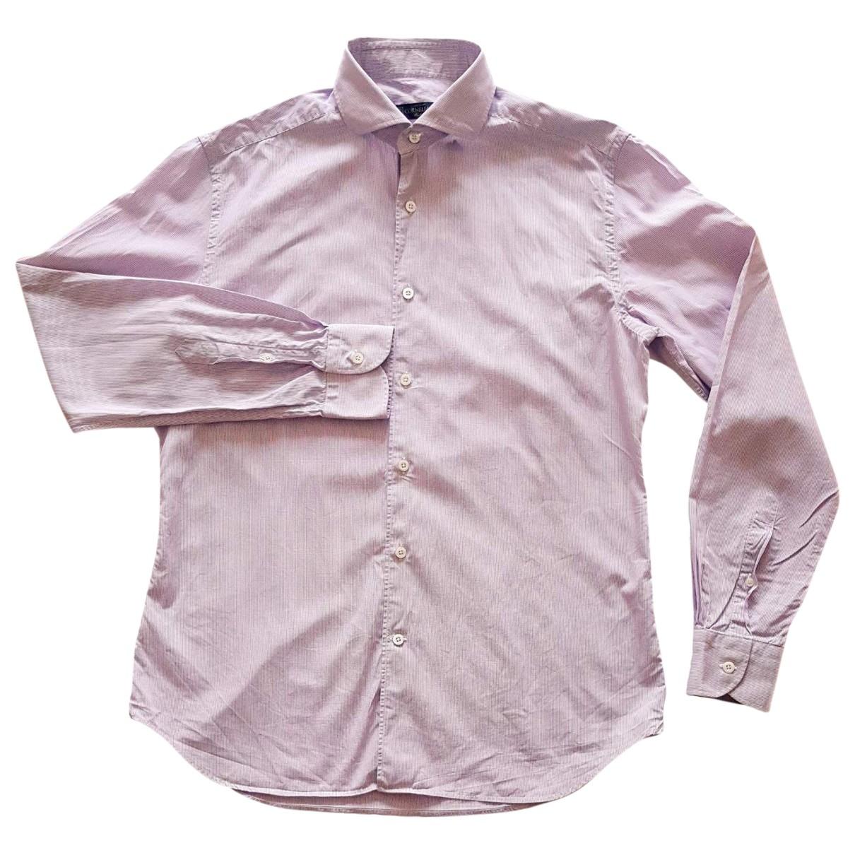 Corneliani - Chemises   pour homme en coton - violet