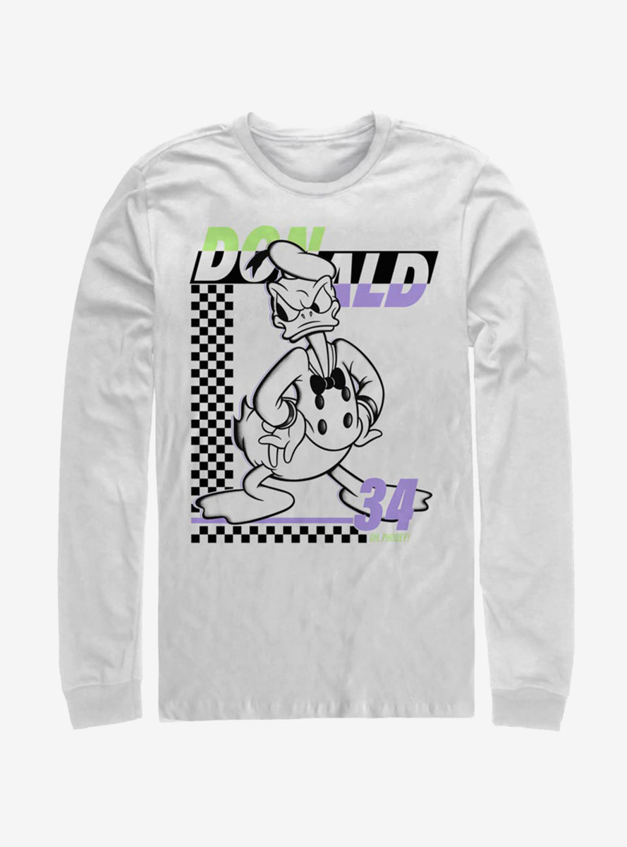 Disney Mickey Mouse Donald Duck 34 Long-Sleeve T-Shirt