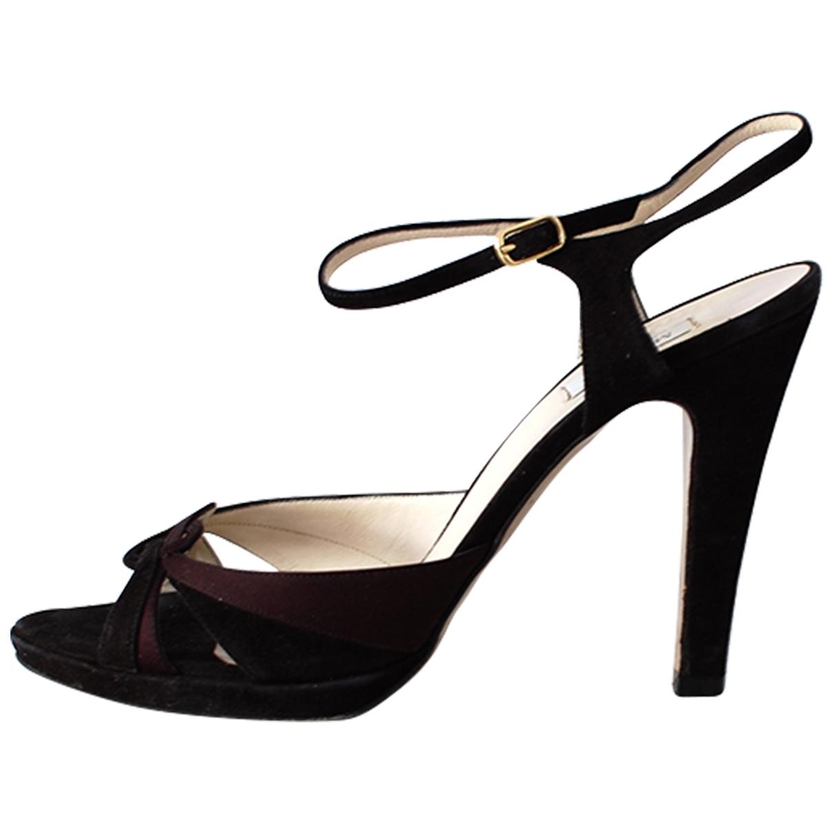 Max Mara \N Black Suede Sandals for Women 40 IT