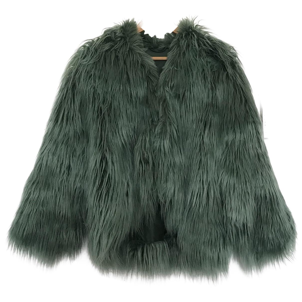 Ottod'ame N Navy Faux fur coat for Women 36 FR