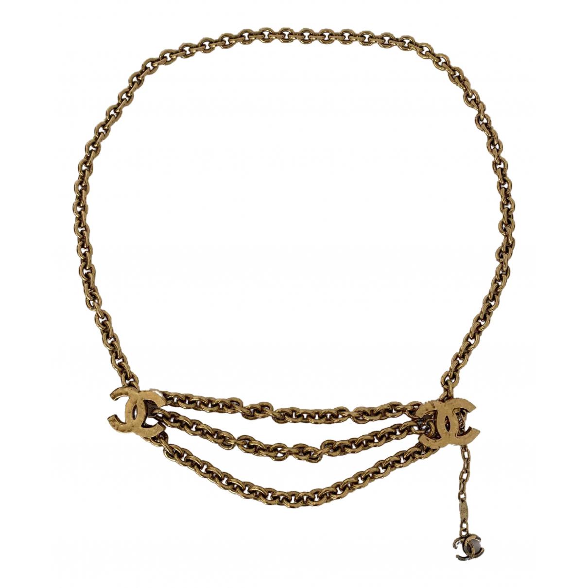 Chanel \N Gold Chain belt for Women 80 cm