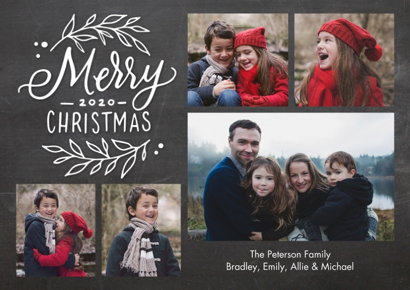 Christmas Photo Cards Flat Matte Photo Paper Cards with Envelopes, 5x7, Card & Stationery -Christmas 2020 Collage by Tumbalina