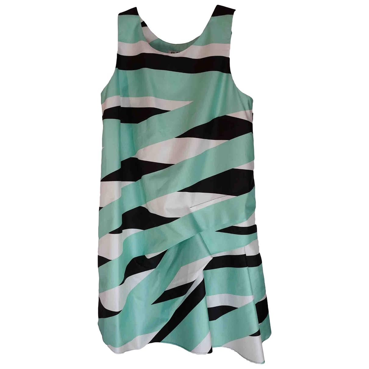 Kenzo \N Kleid in  Gruen Polyester