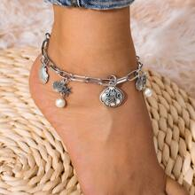Shell & Starfish Charm Anklet