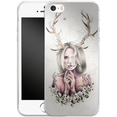 Apple iPhone 5s Silikon Handyhuelle - The Antlers von Kate Powell