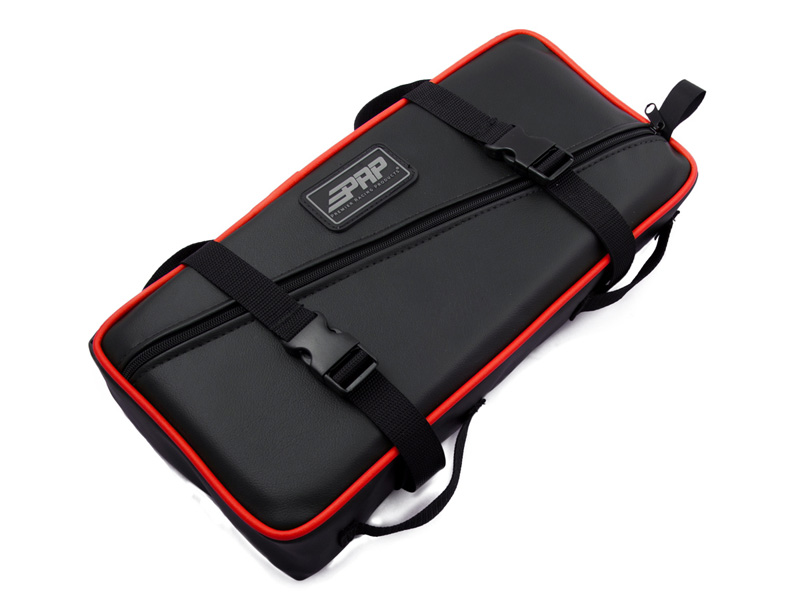 Low Profile Tool Bag Black With Red Piping Vinyl Coated Nylon PRP Seats E11-L