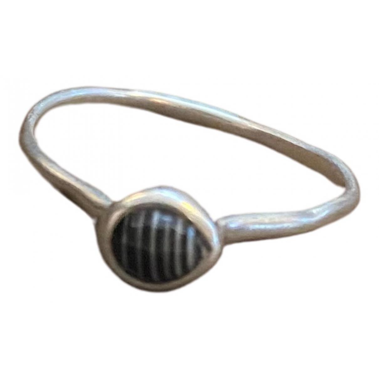 Monica Vinader \N Ring in  Schwarz Silber