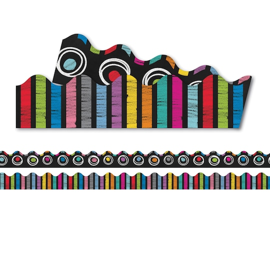 Carson Dellosa Education® Colorful Chalkboard Two-Sided Scalloped Borders, 234Ft   Michaels®