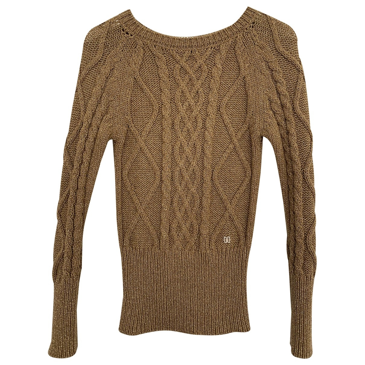 Daks \N Gold Wool Knitwear for Women 38 IT