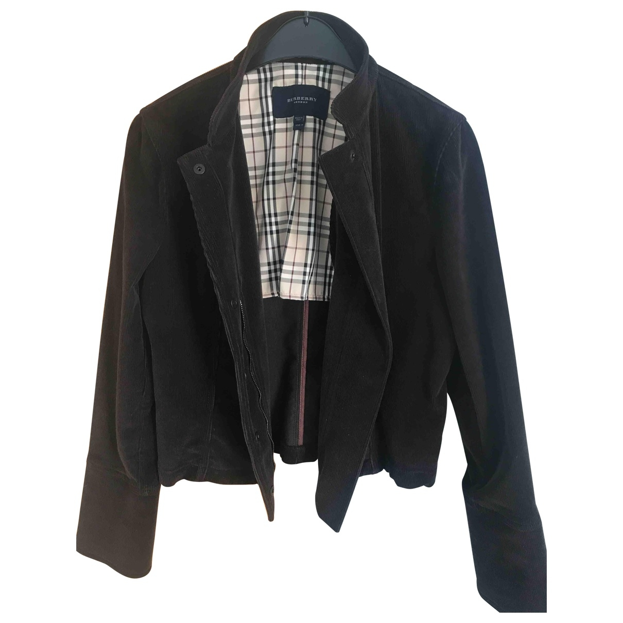 Burberry - Veste   pour femme en velours - marron