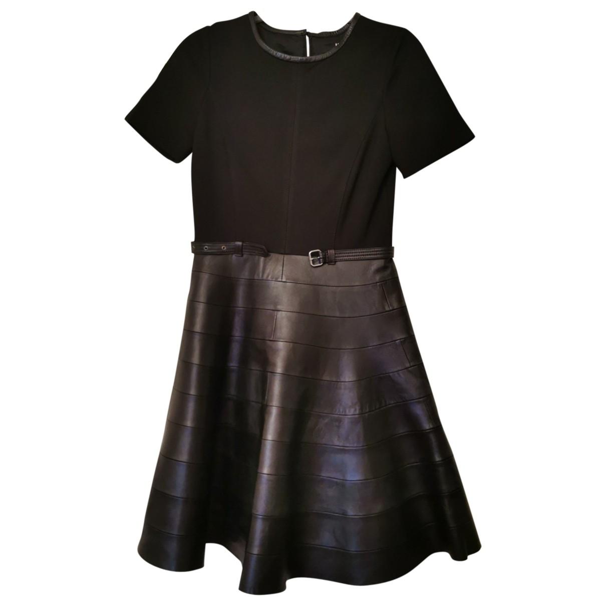 Karl \N Kleid in  Schwarz Leder
