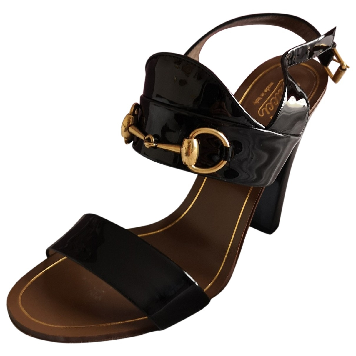Gucci \N Black Patent leather Sandals for Women 38 EU