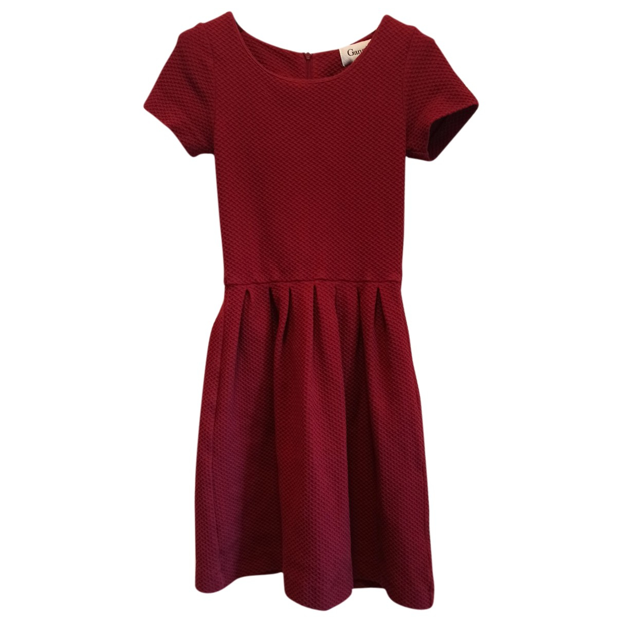 Ganni \N Burgundy Cotton - elasthane dress for Women XS International