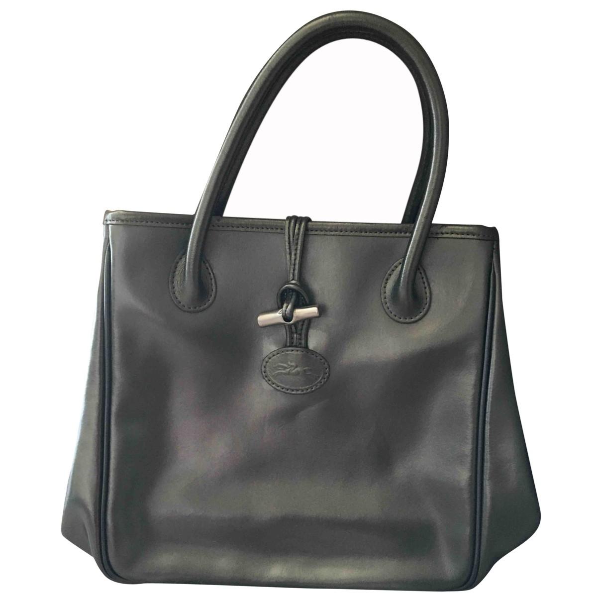 Longchamp Roseau Handtasche in  Gold Lackleder