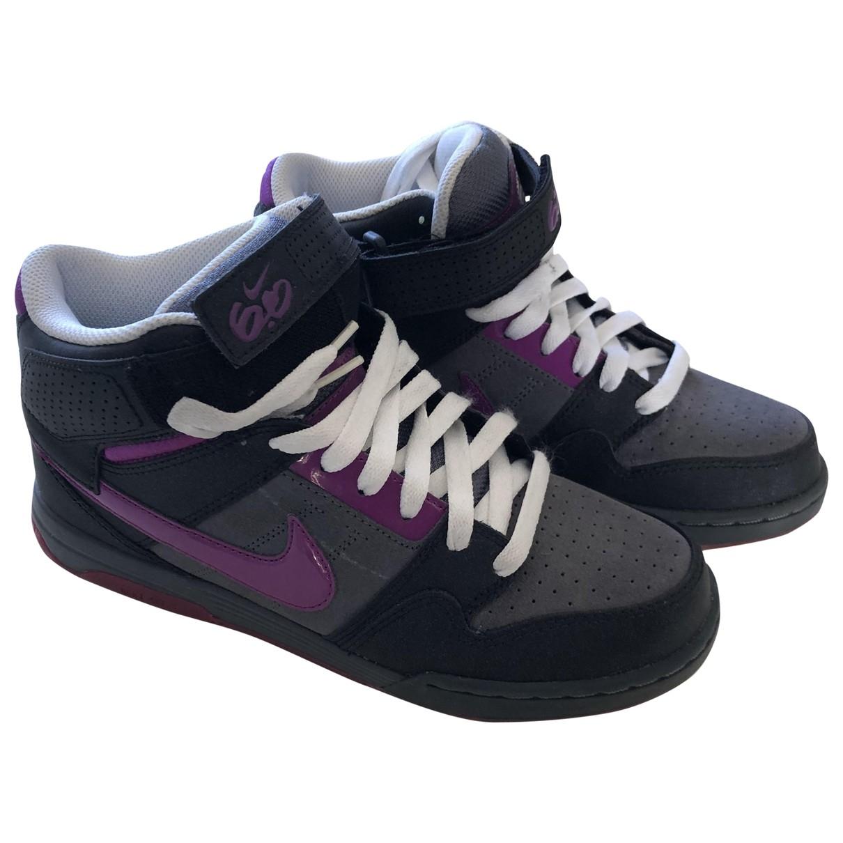 Nike SB Dunk  Sneakers in  Anthrazit Leder