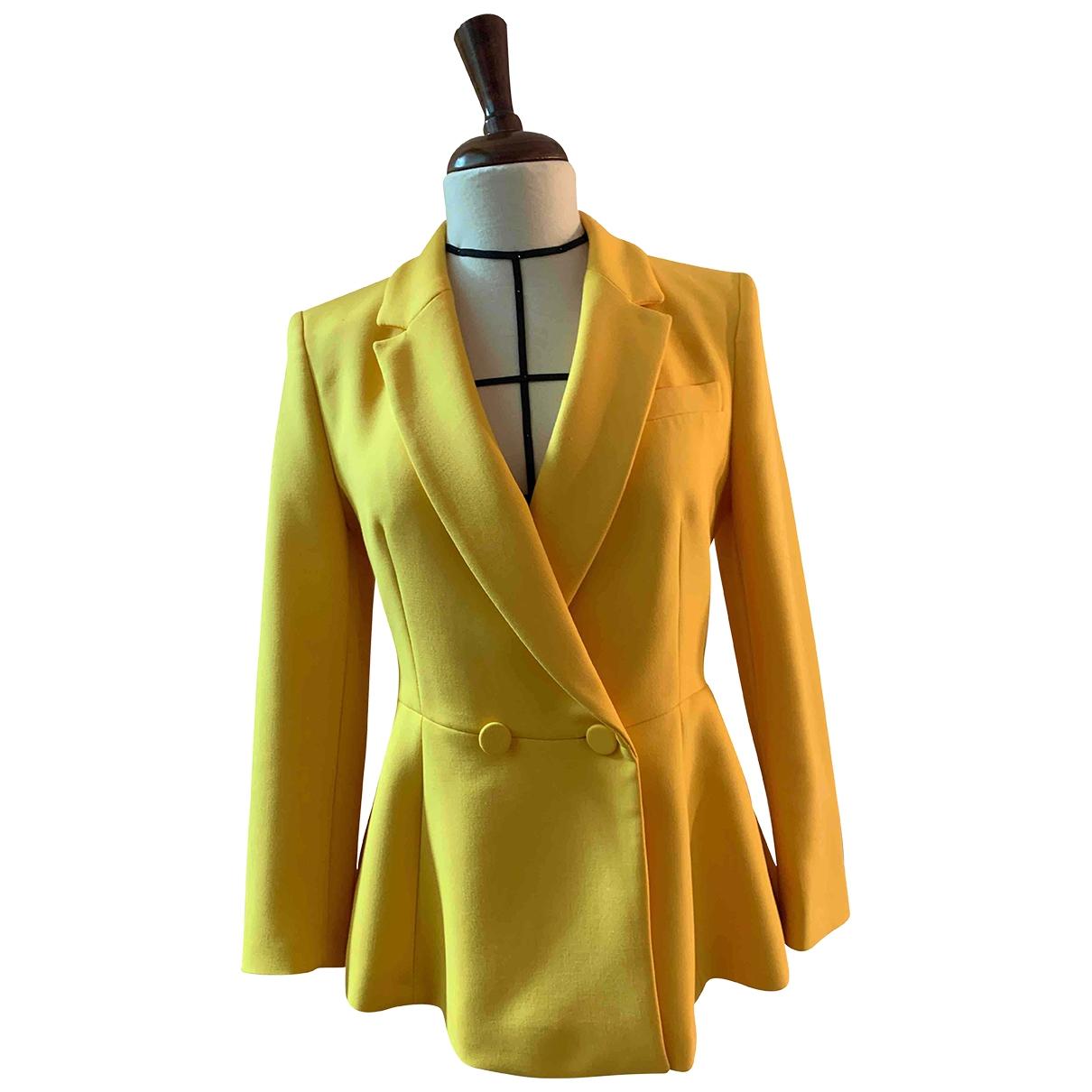 Zara \N Jacke in  Gelb Baumwolle