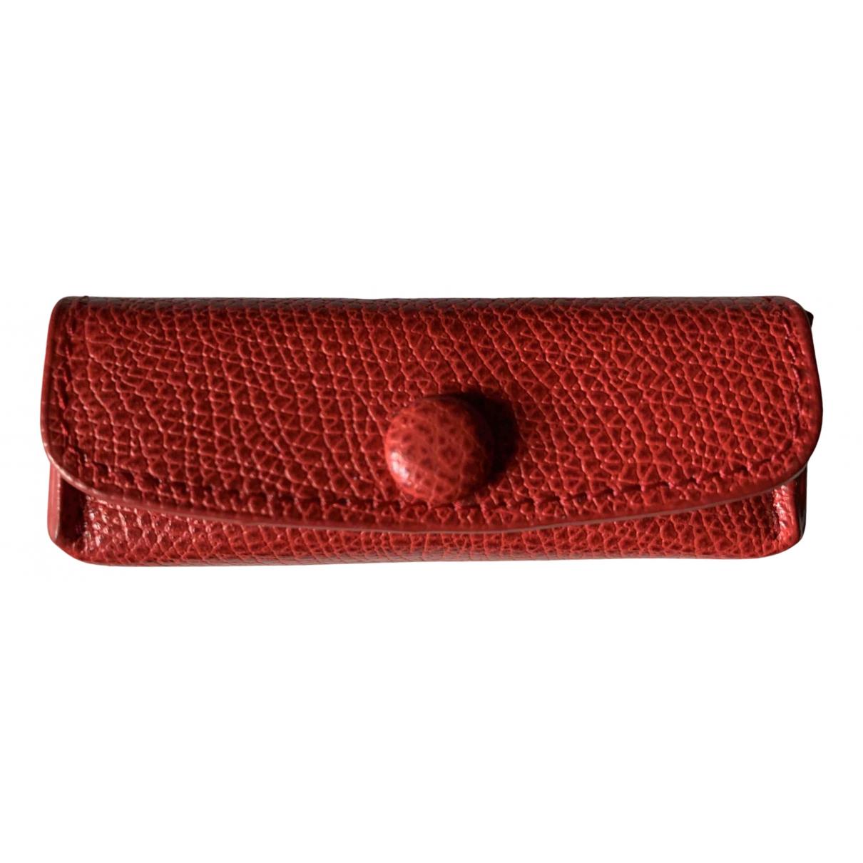 - Petite maroquinerie   pour femme en fourrure - rouge