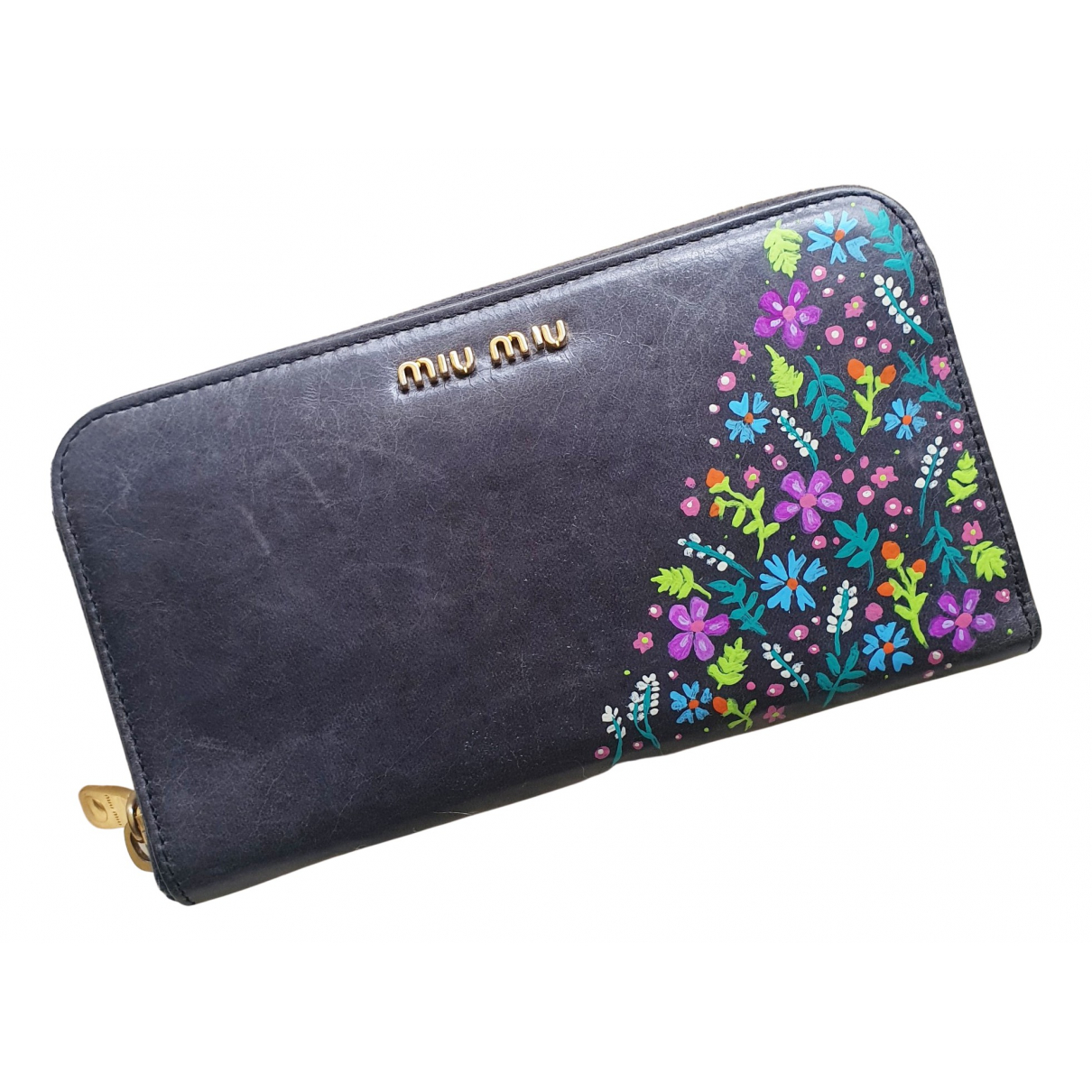 Miu Miu N Grey Leather wallet for Women N