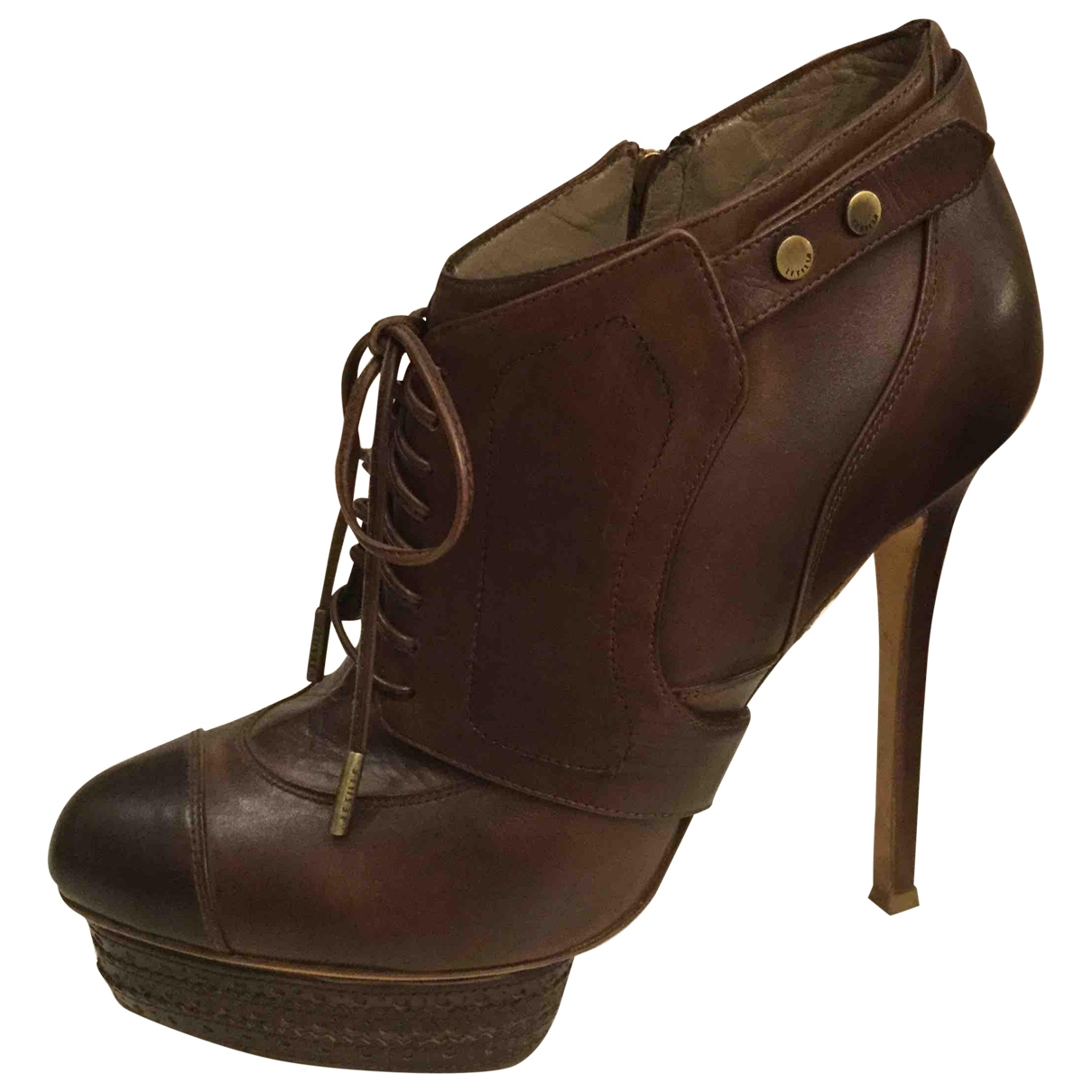 Le Silla \N Brown Leather Ankle boots for Women 40 EU