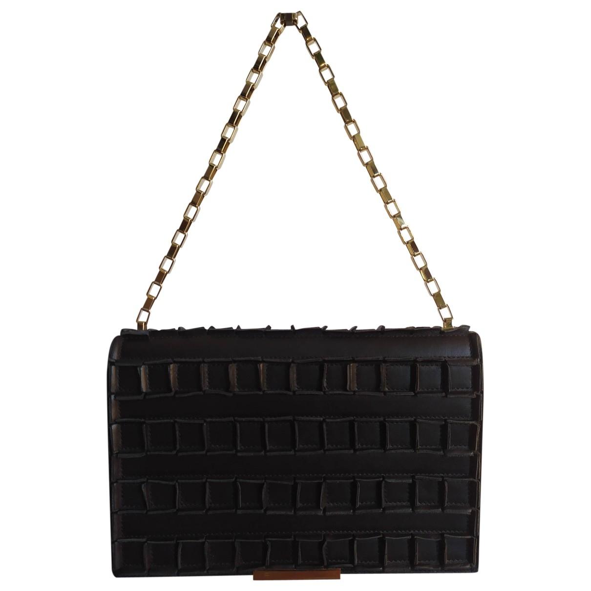 Tomasini \N Handtasche in  Schwarz Leder