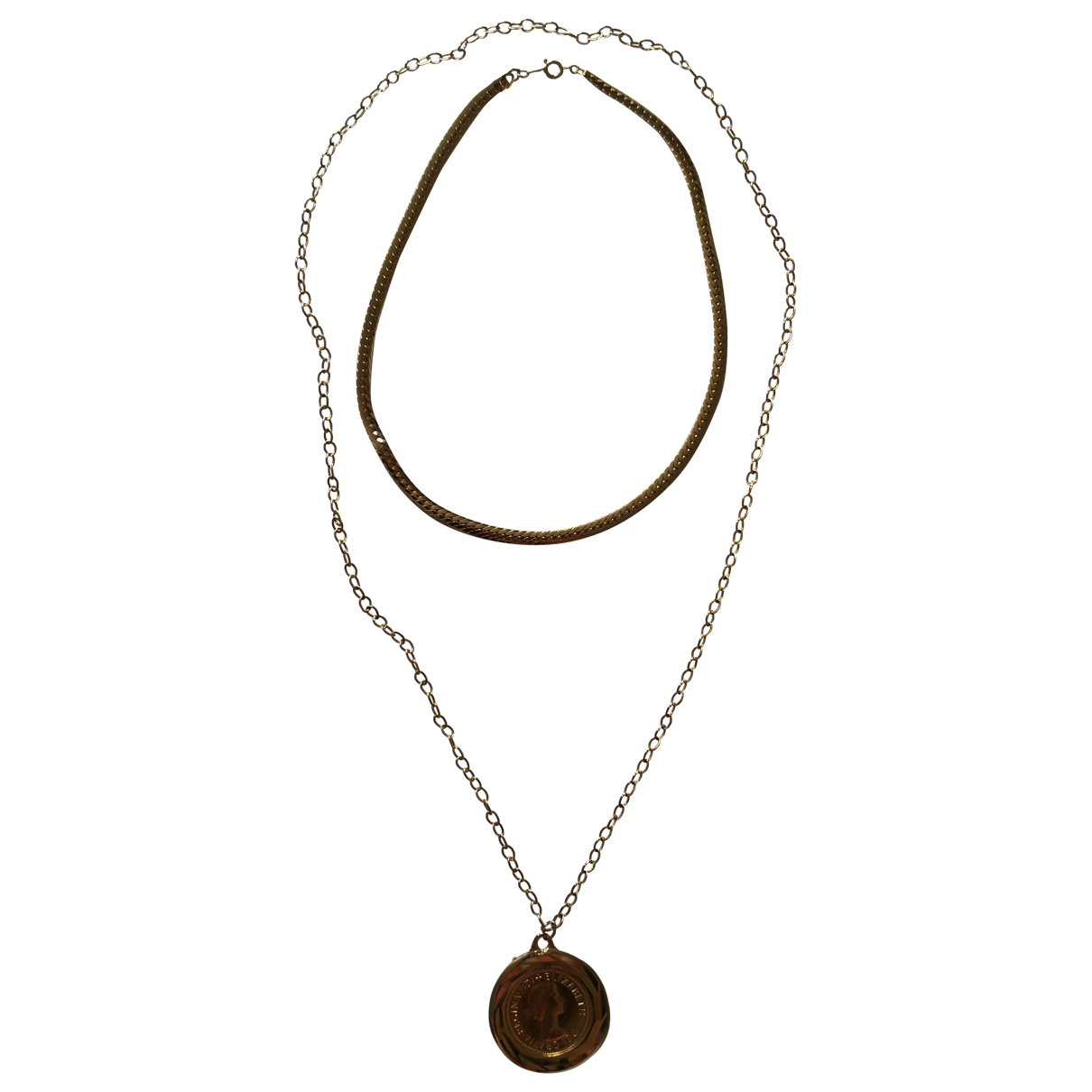 Non Signé / Unsigned Médailles Gold Metal necklace for Women \N