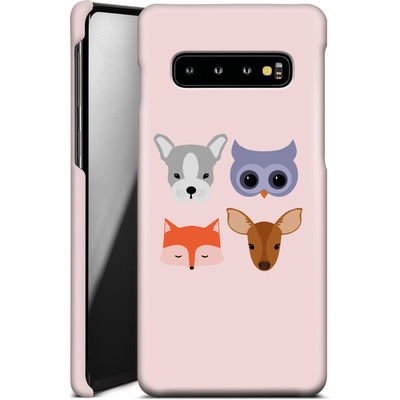 Samsung Galaxy S10 Smartphone Huelle - Animal Friends on Pink von caseable Designs