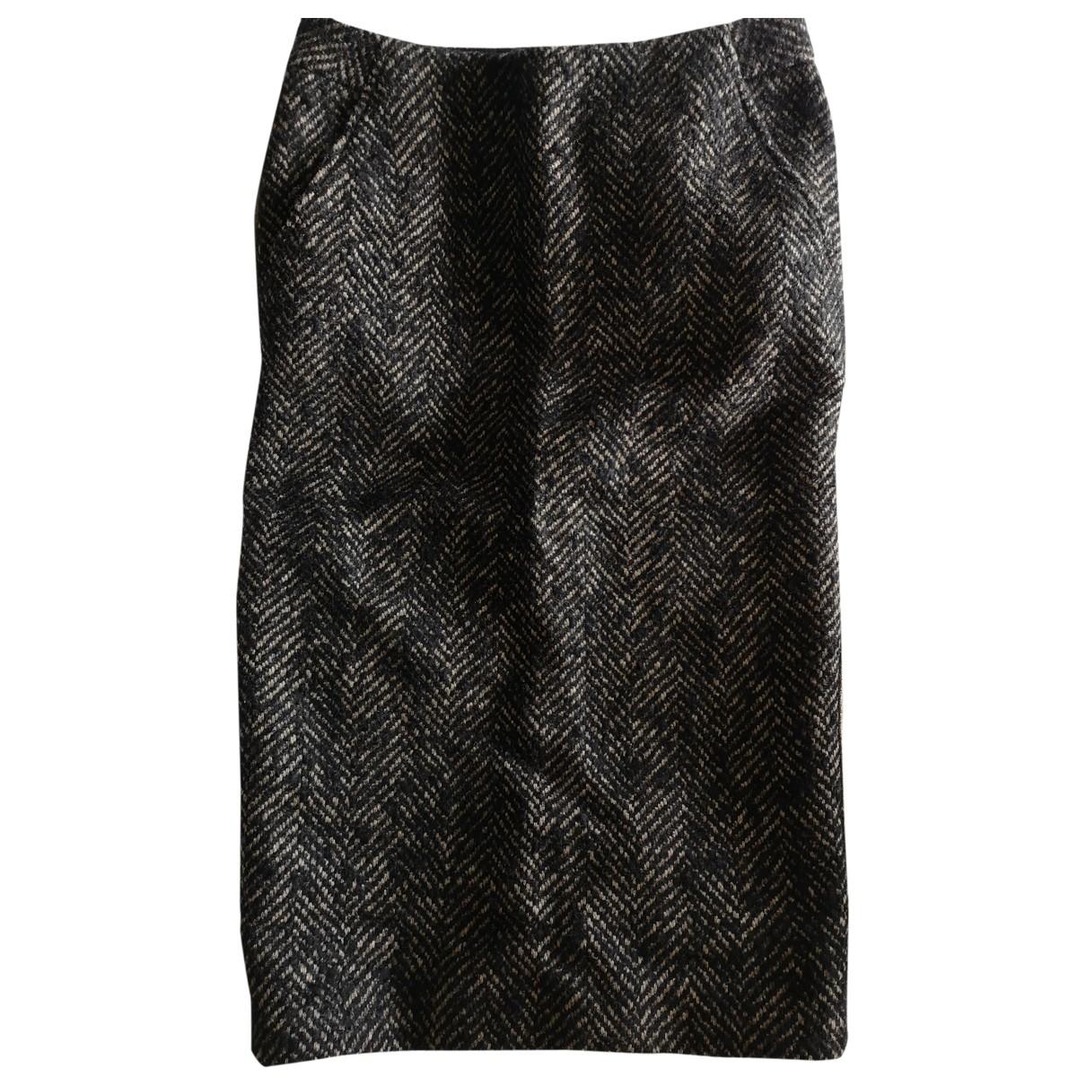 Max Mara Max Mara Atelier Brown Wool skirt for Women 36 FR