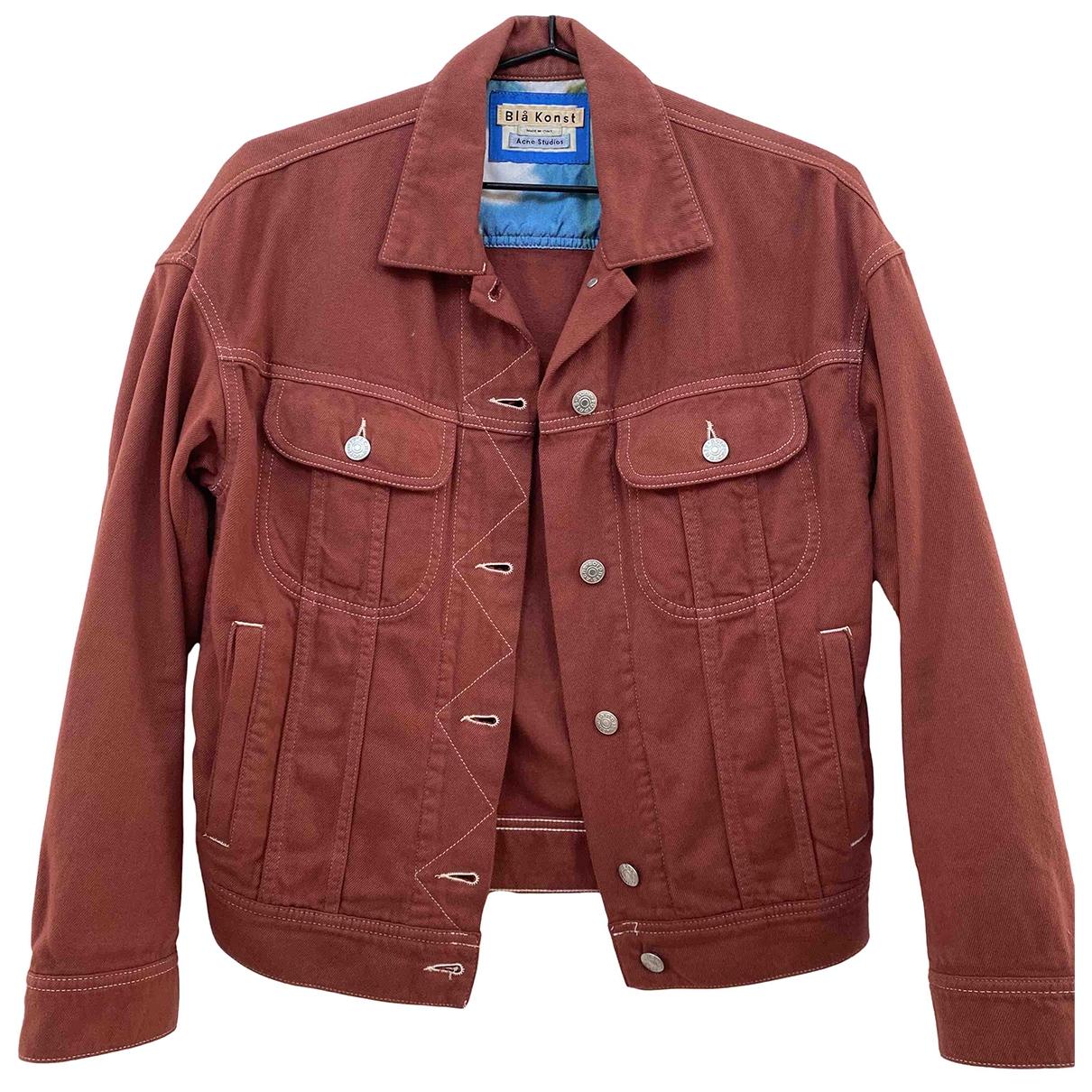 Acne Studios Blå Konst Red Cotton jacket for Women 32 FR