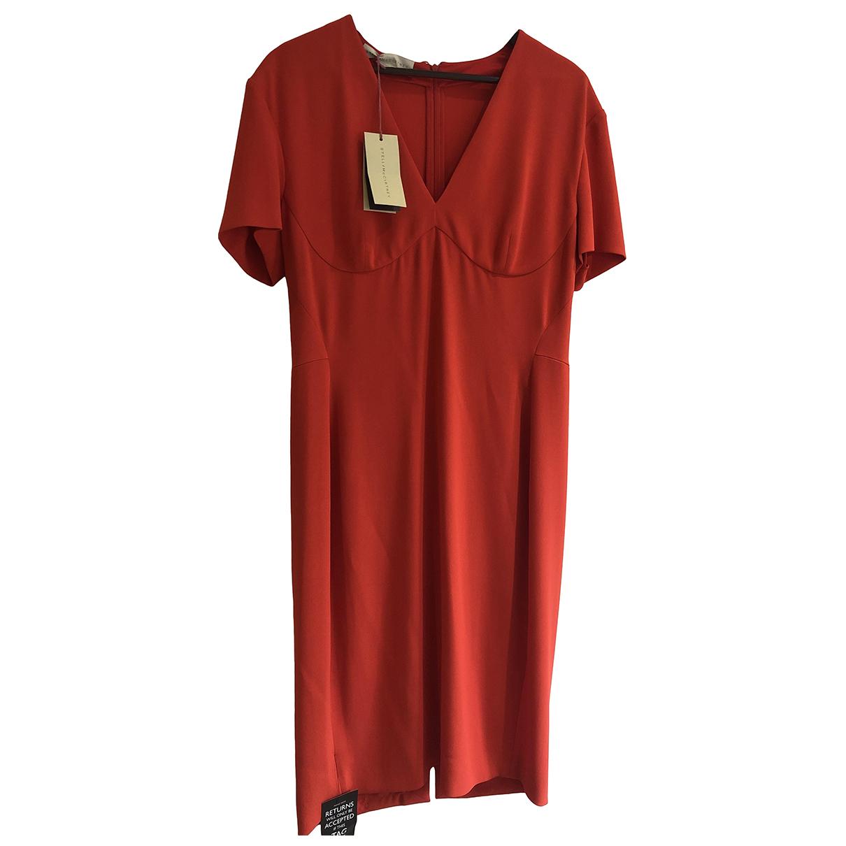 Stella Mccartney \N Kleid in  Rot Viskose
