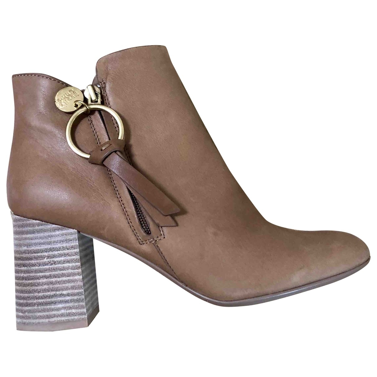 See By Chloé \N Beige Suede Ankle boots for Women 39.5 EU