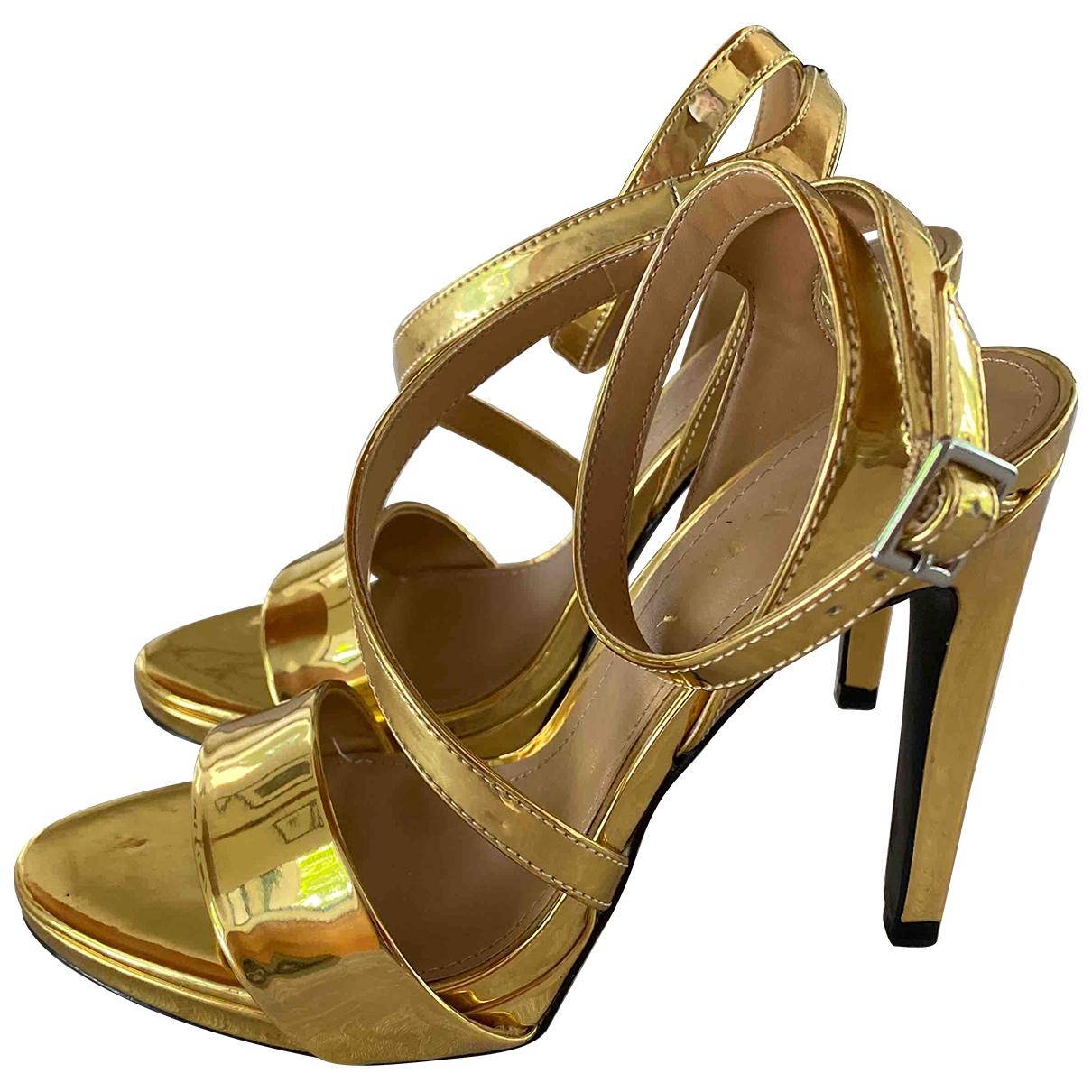 Zara \N Gold Sandals for Women 38 EU