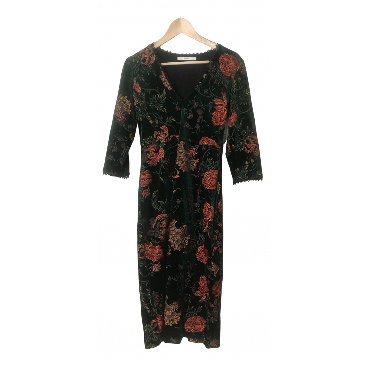 Uterque \N Kleid in  Gruen Polyester