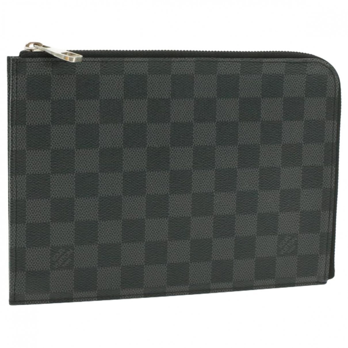 Louis Vuitton \N Clutch in  Schwarz Leinen