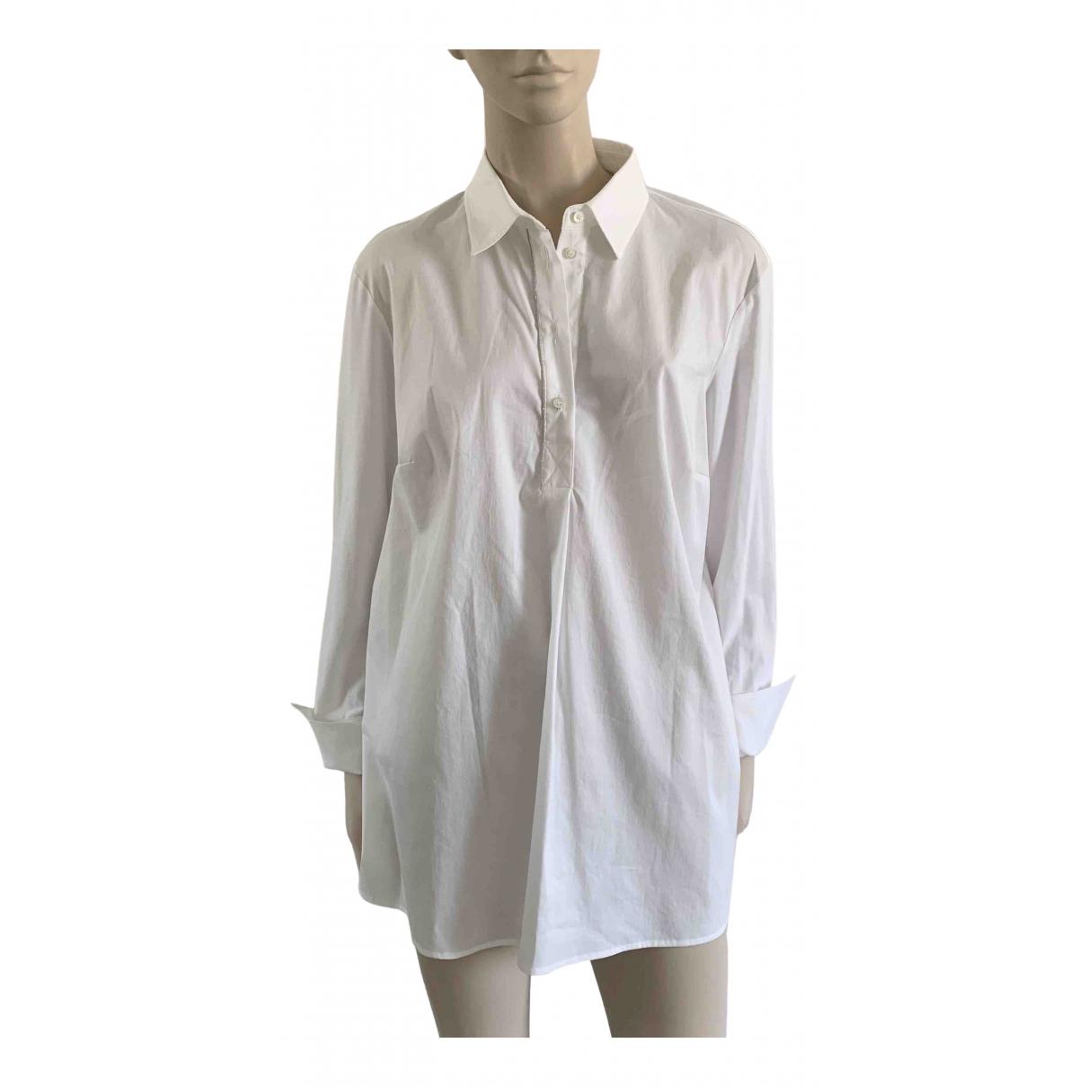 Elena Miro - Top   pour femme en coton - blanc