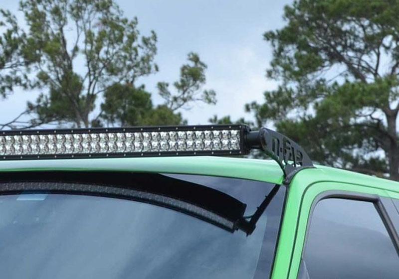 N-Fab F0950LR-TX LED Light Roof Mounts Textured Black Ford F-150 09-14