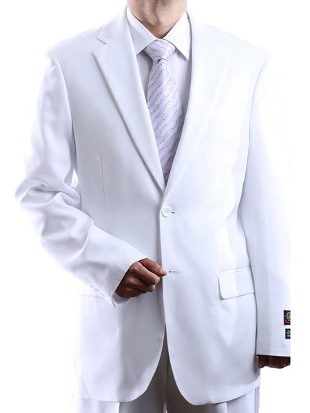 Men's Single Breasted 100% Polyester 2 Button Fully Lined Dress Suit