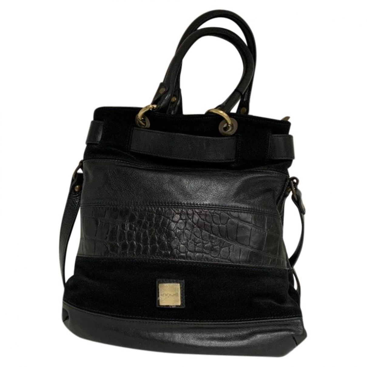 Innue \N Black Leather handbag for Women \N