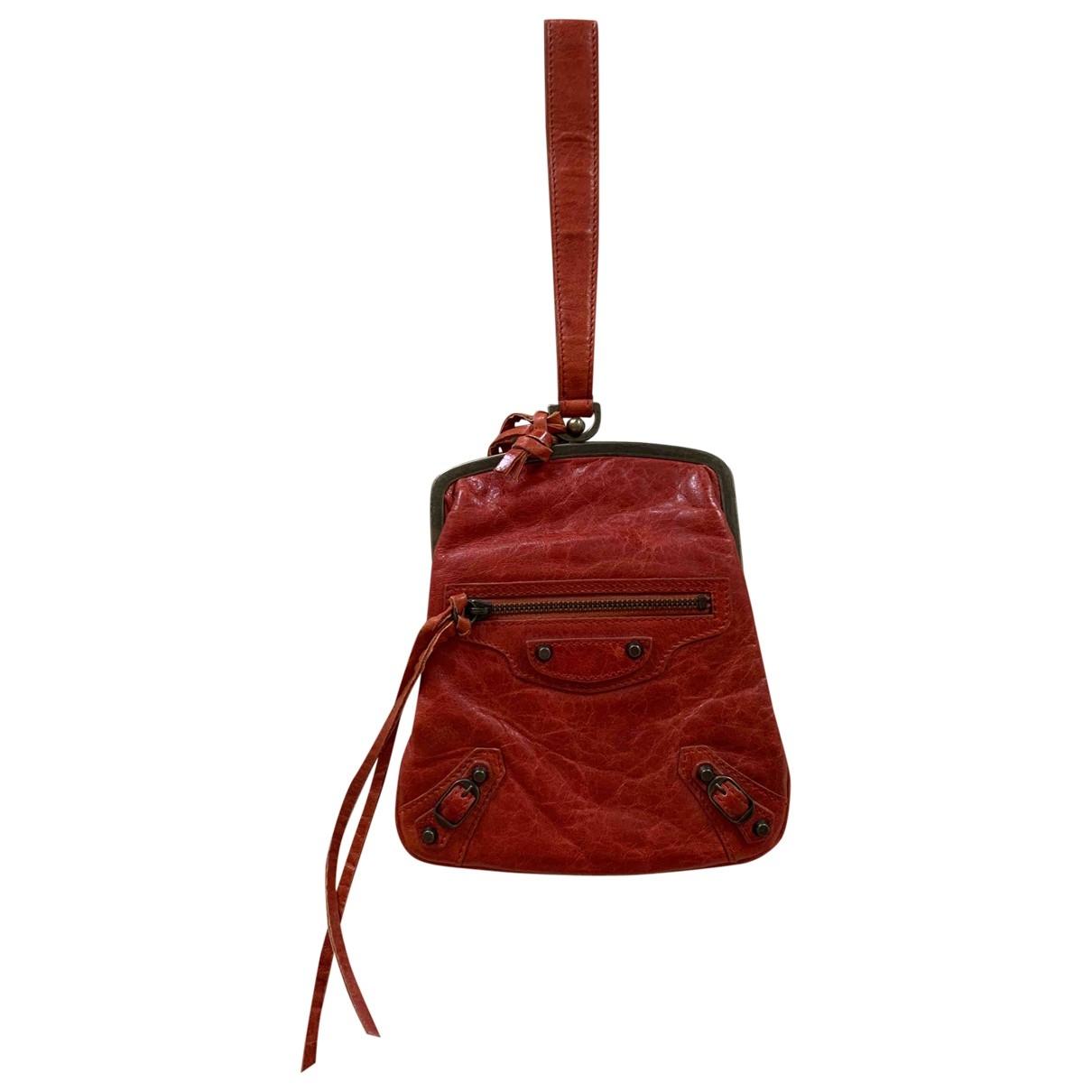 Balenciaga - Petite maroquinerie   pour femme en cuir - rouge