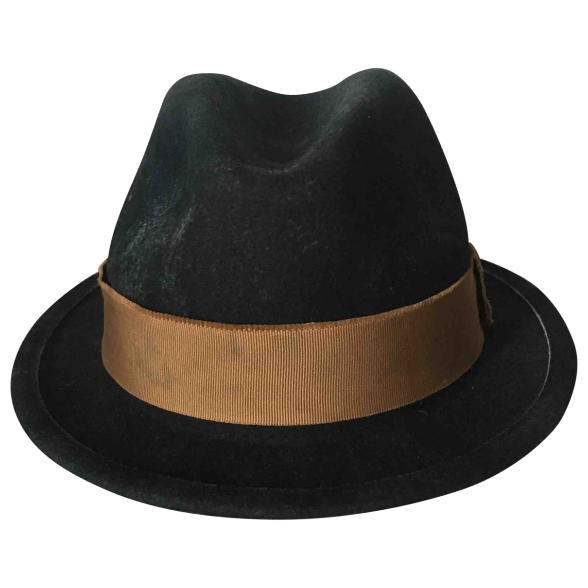 Non Signé / Unsigned \N Black Wool hat & pull on hat for Men 59 cm