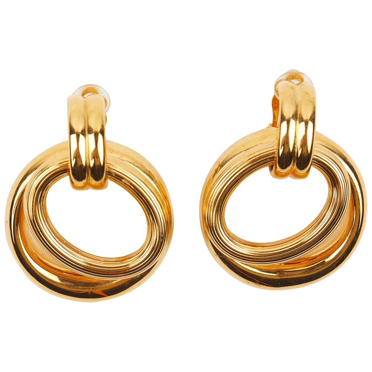 Celine Hoop OhrRing in  Gold Metall
