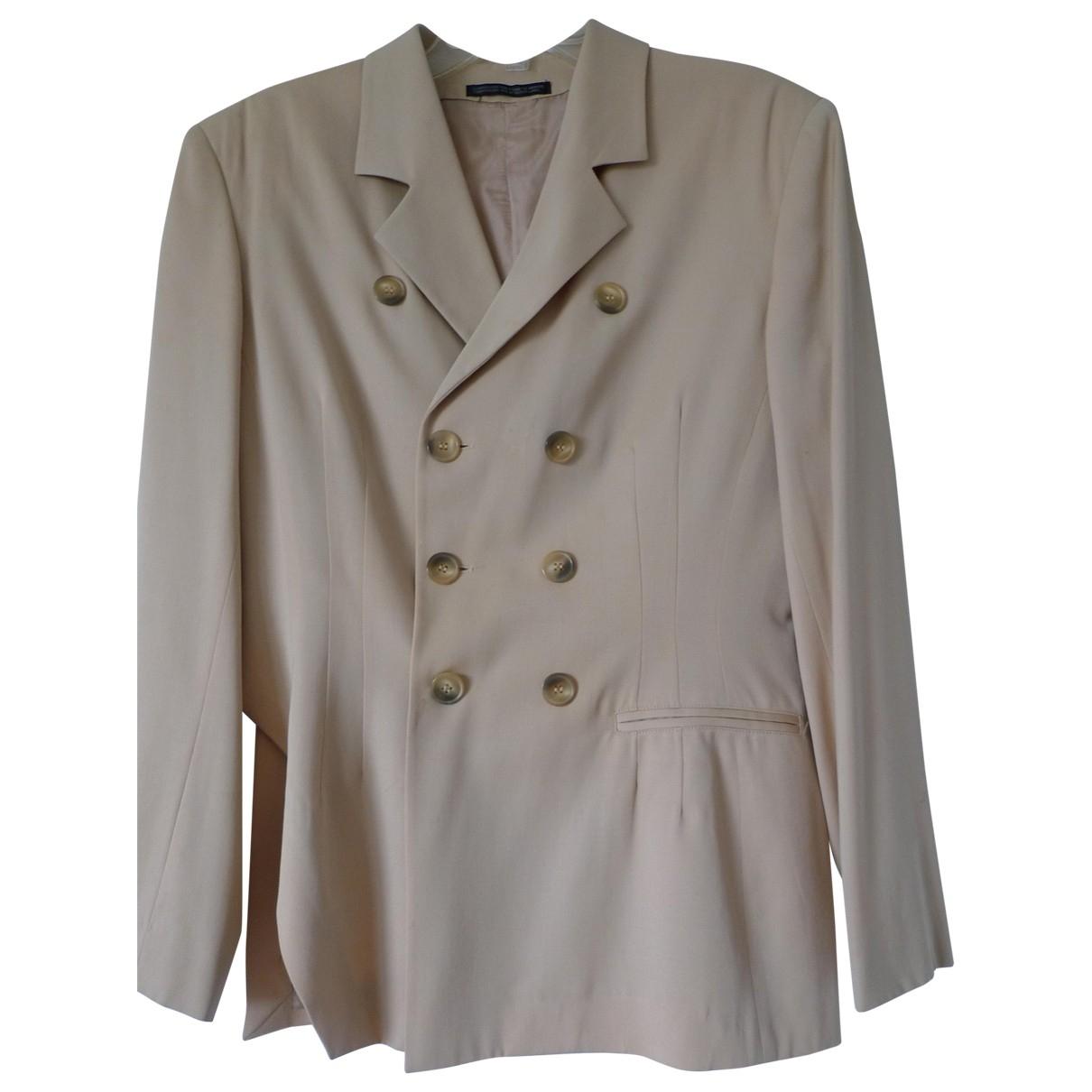 Yohji Yamamoto - Veste   pour femme en laine - beige