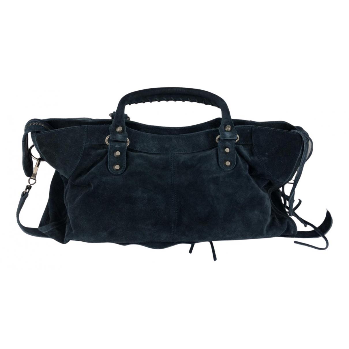 Balenciaga City Navy Suede handbag for Women N