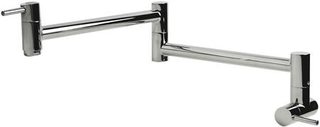 AB5019-PSS Retractable Pot Filler Faucet with Stainless Steel and User Friendly Wall-Mounted Installation in Polished Stainless