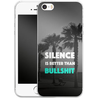 Apple iPhone 5s Silikon Handyhuelle - Silence Is Better von Statements