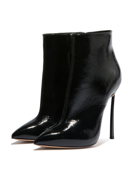 Milanoo High Heel Boots Women Pointed Toe Stiletto Heel Ankle Boots
