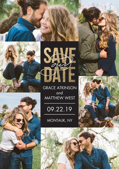 Save the Date Flat Matte Photo Paper Cards with Envelopes, 5x7, Card & Stationery -Save the Date Celebrate