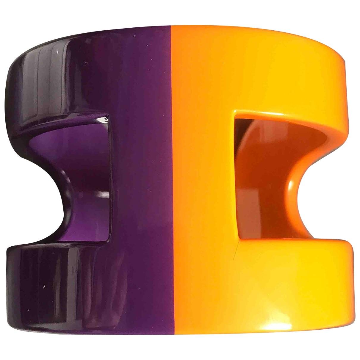 Hermes Ano Armband in  Orange Holz