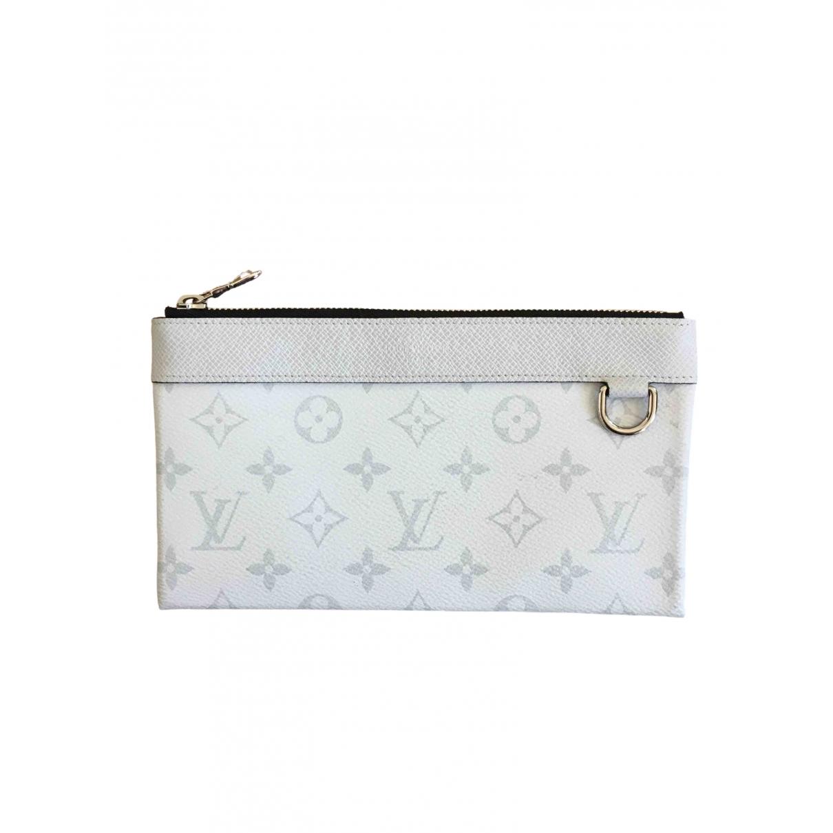 Louis Vuitton - Petite maroquinerie   pour homme en toile - blanc