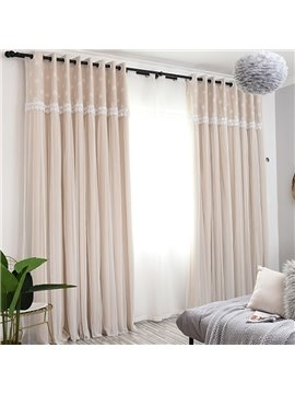 Princess Decoration Blackout Custom Curtain Sets for Living Room Bedroom Sheer and Shading Curtain
